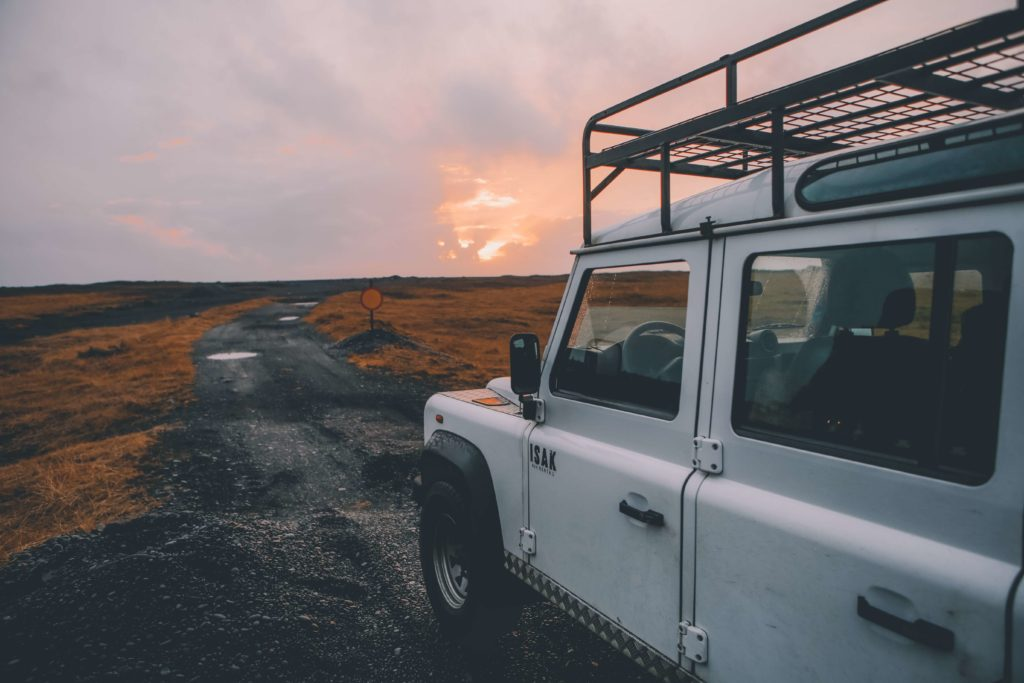 Car in Iceland
