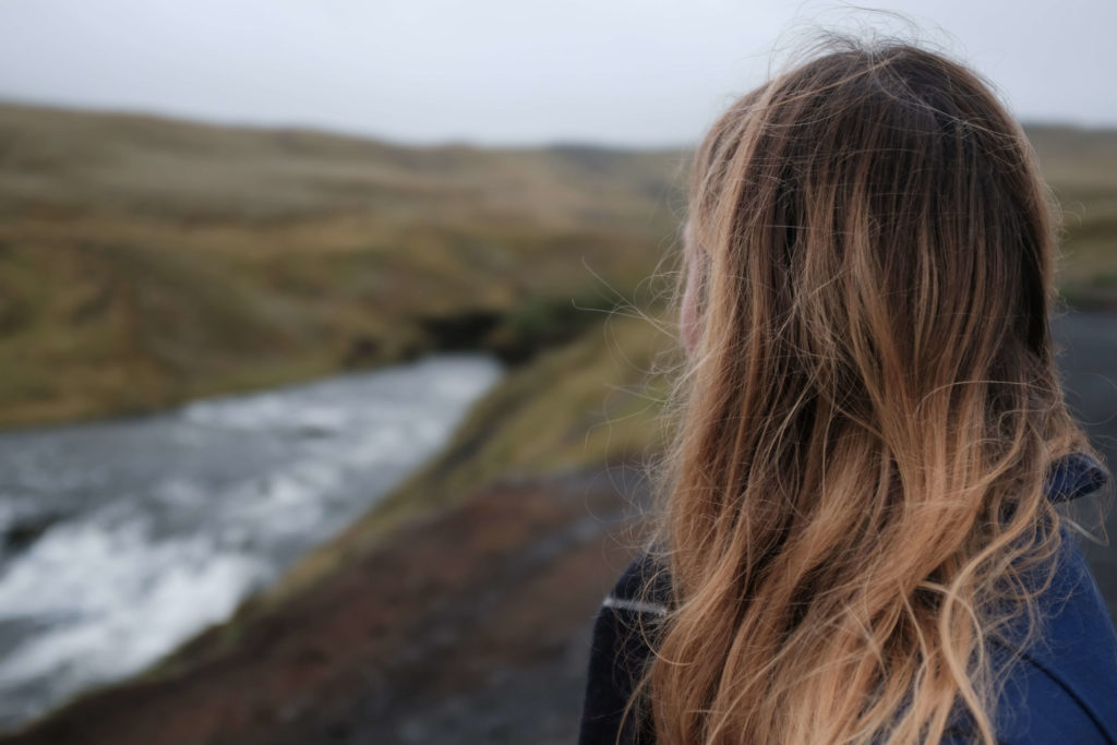 Person in Iceland